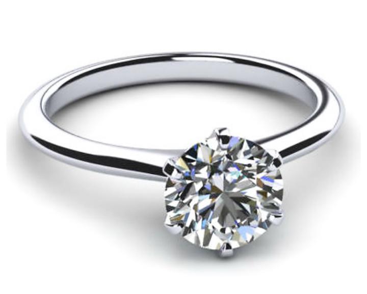 Nhẫn nữ kim cương nhân tạo 6,3 ly