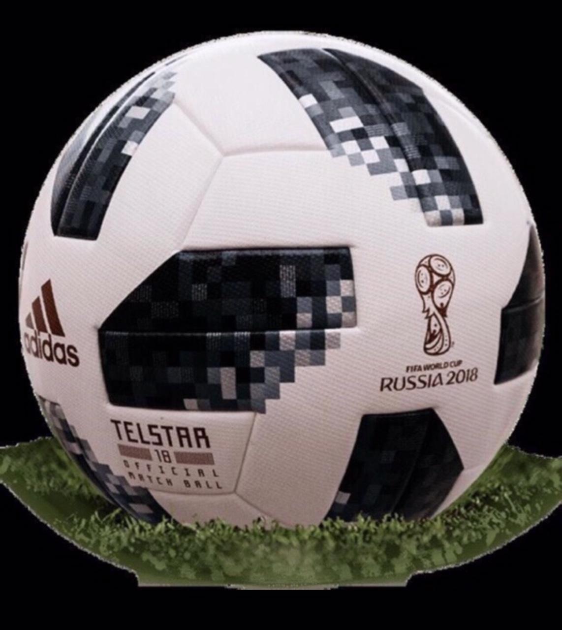 Hình ảnh Quả bóng đá World Cup 2018 TELSTAR số 5 (Màu Trắng Đen,Đỏ)- Tặng kim bơm bóng