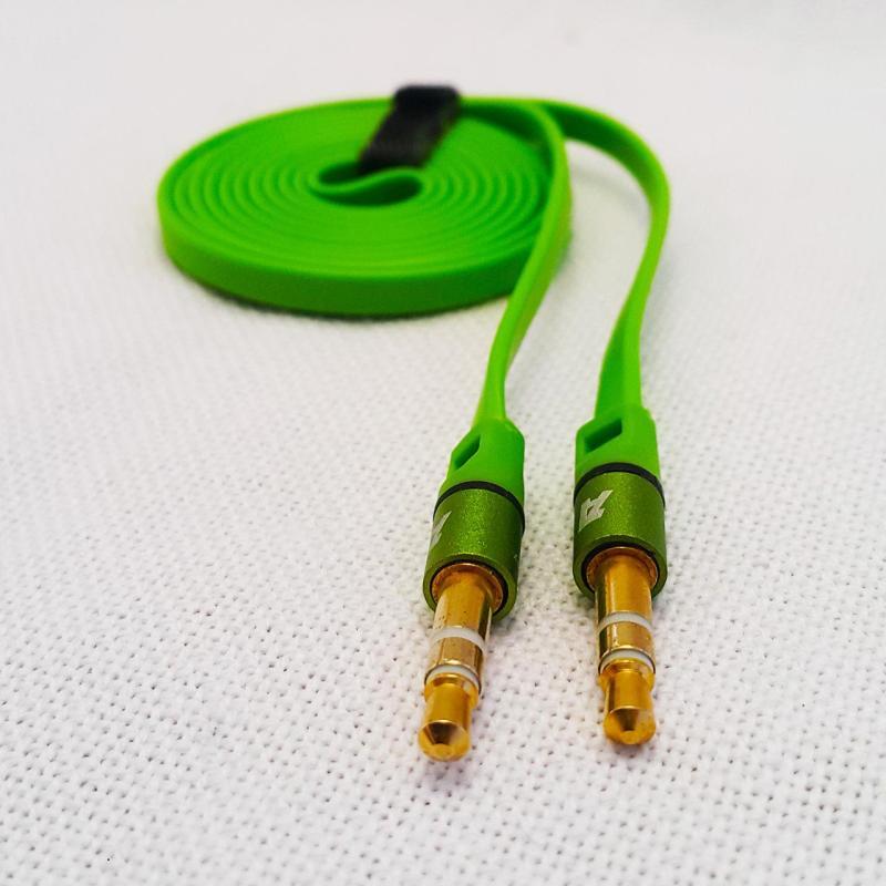 Cáp âm thanh audio 3.5mm Aiborg 1 mét dẹt màu xanh