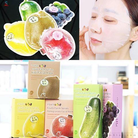 Bộ 10 miếng mặt nạ trắng da hoa quả Rainbow Fruit Mask Pack Hàn Quốc 23ml tốt nhất