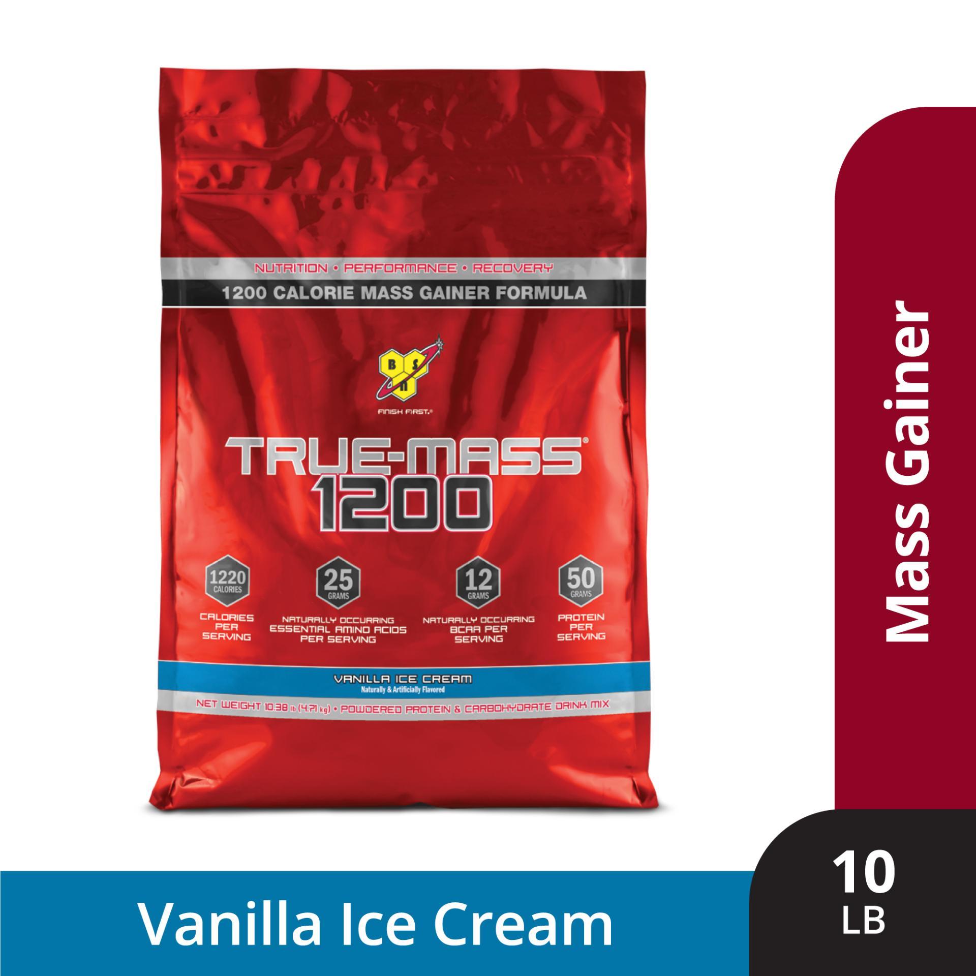 Thực phẩm bổ sungTrue Mass 1200 Vanilla Ice Cream10 lbs nhập khẩu