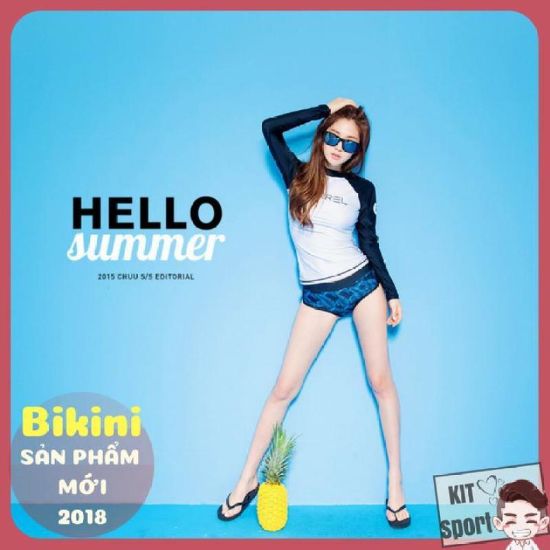 Nơi bán (2018) Bộ Đồ bơi nữ Bikini dài Barrel Heart - Cửa hàng phân phối KIT Sport (Áo quần tắm, đi biển, 2018 sexy women bikinis)