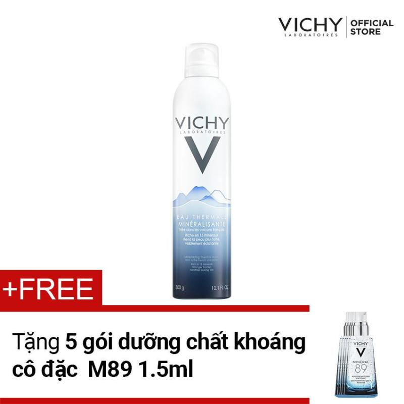 Xịt khoáng dưỡng da Vichy Mineralizing Thermal Water 300ML tặng dưỡng chất khoáng cô đặc Mineral 89 1.5ML x 5