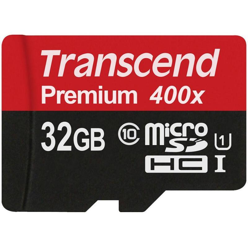 Thẻ Nhớ Micro SD Premium Transcend 32GB Class 10 - Hãng phân phối chính thức