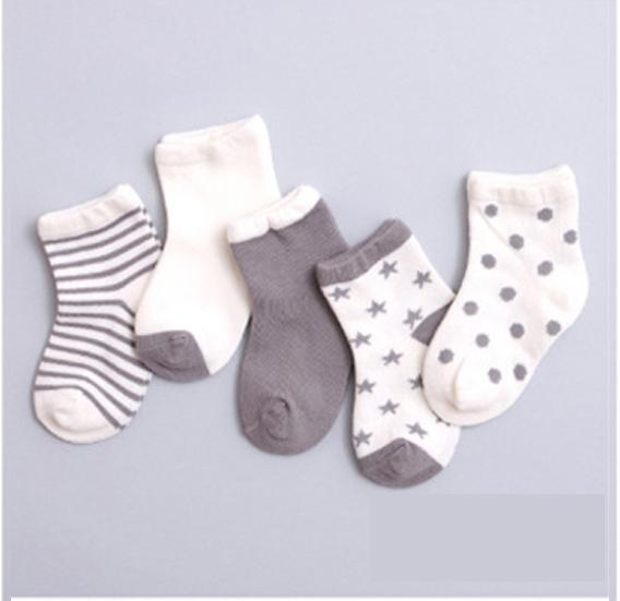 Hình ảnh Combo 5 đôi vớ (tất) bé trai từ 1-3 tuổi size S mẫu M7