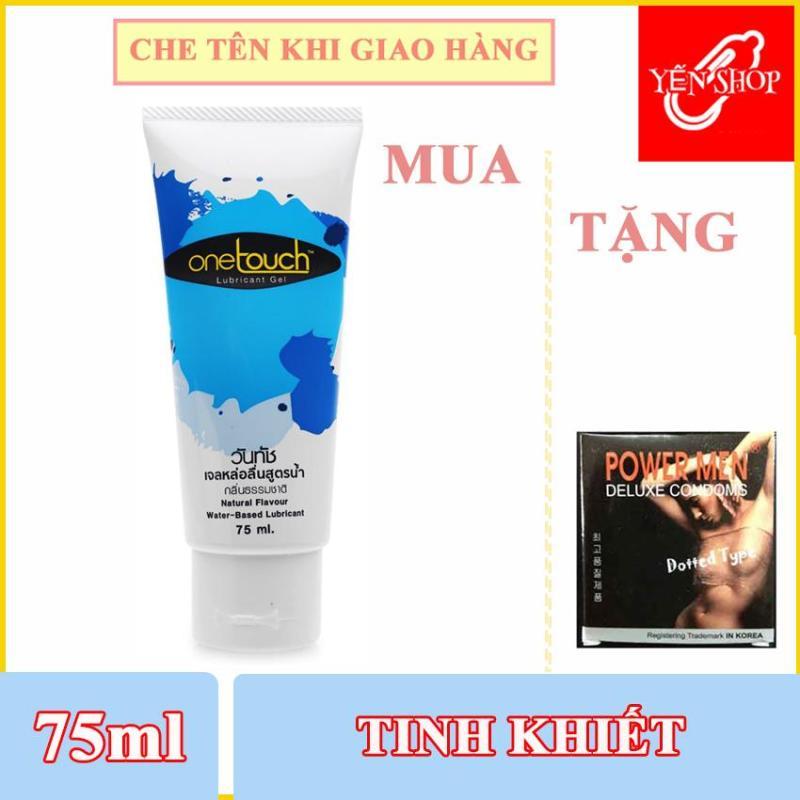 Gel bôi trơn gốc nước One Touch Thái Lan 75ml Tặng Bao gai 3c (YSGBT)