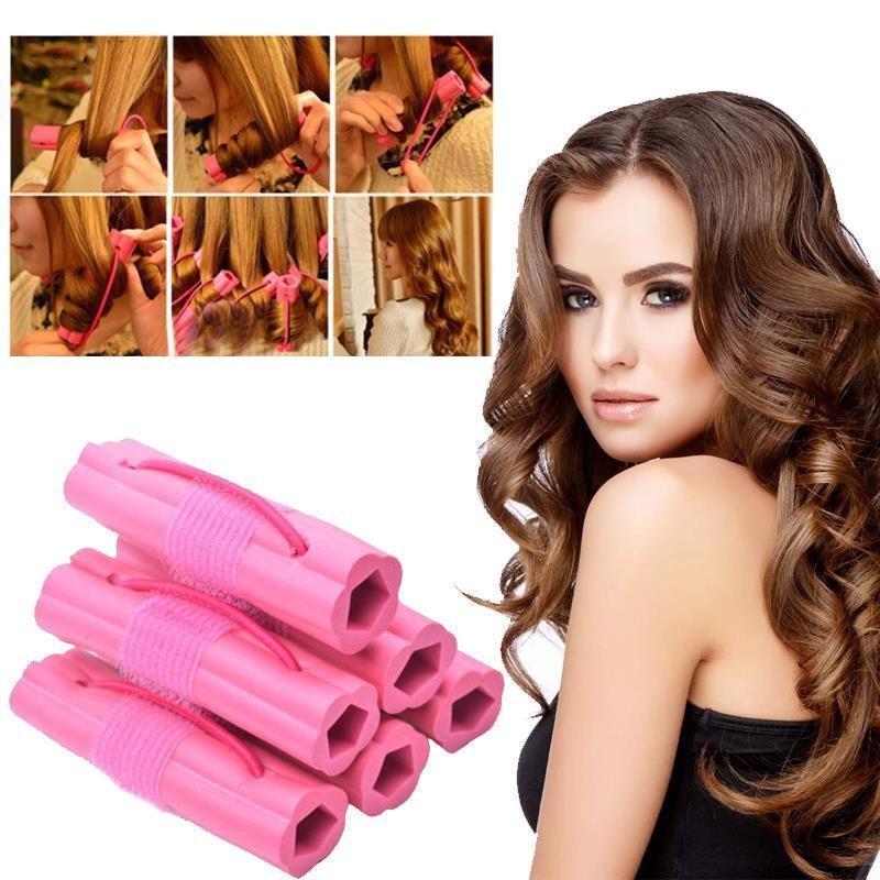 Bộ 6 lô uốn tóc NIGHT SET CURLER - Tạo kiểu tóc xoăn siêu nhanh siêu tự nhiên cho bạn gái