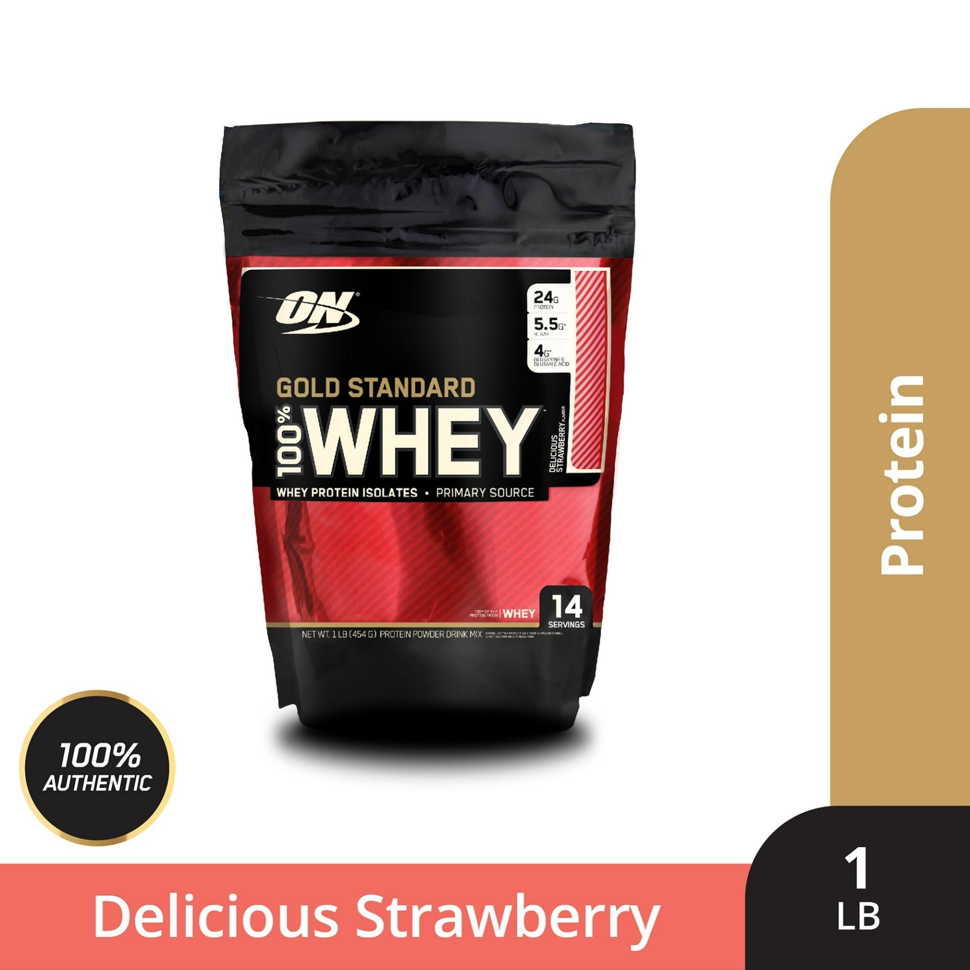 Thực phẩm bổ sung Optimum NutritionGold Standard 100% Whey Delicious Strawberry 1 lbs