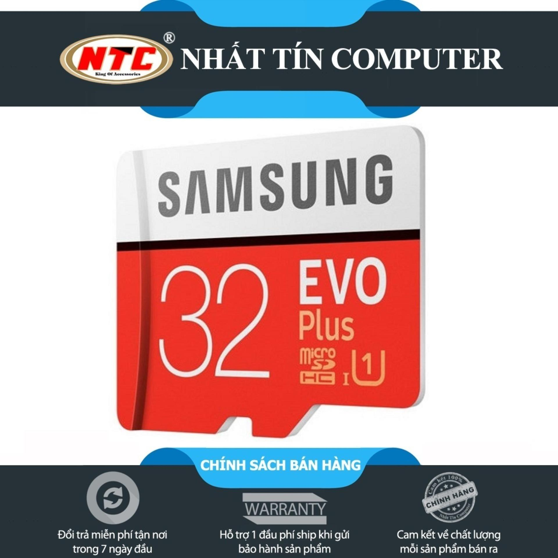 Thẻ nhớ MicroSDHC Samsung Evo Plus 32GB U1 95MB/s (Đỏ)