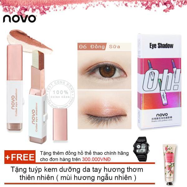 Son sáp kẻ mắt ánh nhũ 3D Novo Pearlescent Eye Shadow 5099 + Tặng tuýp kem dưỡng da tay hương thơm thiên nhiên ( Đơn hàng  mỹ phẩm trên 300k tặng thêm 1 đồng hồ thể thao như quảng cáo) giá rẻ