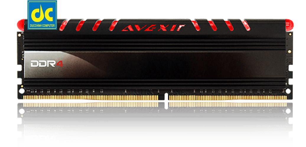 Hình ảnh RAM máy tính DDR3 AVEXIR 4GB Bus 1600 Tản nhiệt - Có đèn Led (Đỏ)