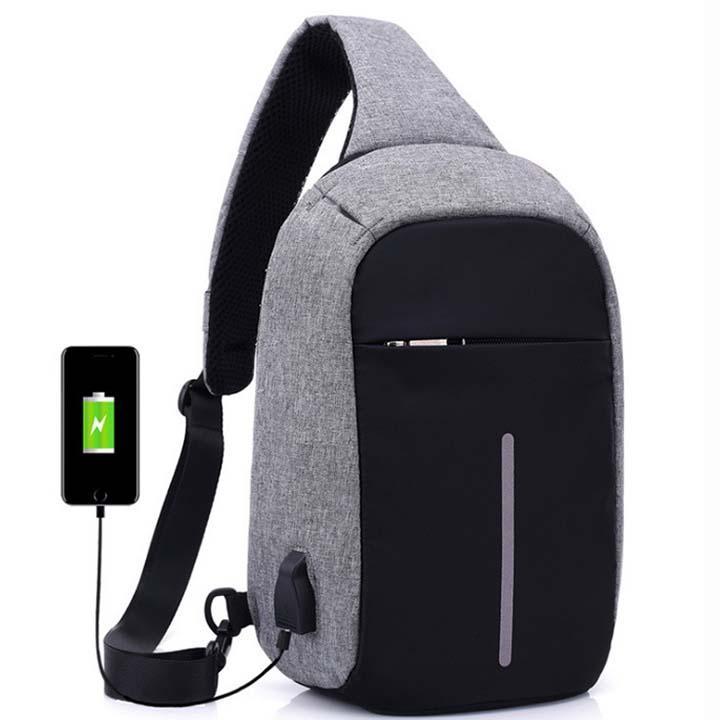 Túi Đeo Chéo Chống Trộm Có Cổng Sạc USB Siêu Giảm Giá