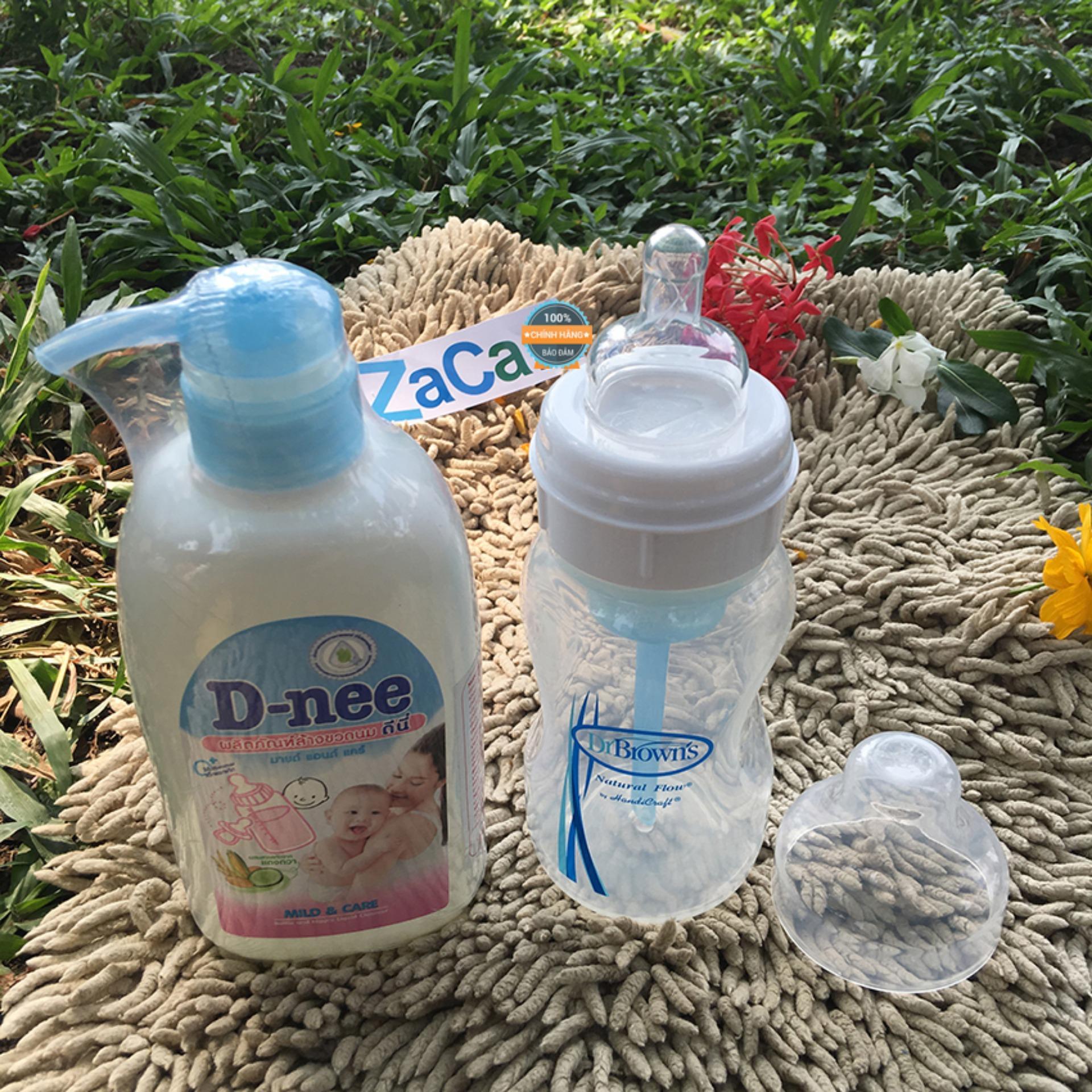 Chiết Khấu Combo Binh Sữa Dr Brown Cổ Rộng 250Ml Va Chai Nước Rửa Binh Sữa D Nee 500Ml Hồ Chí Minh