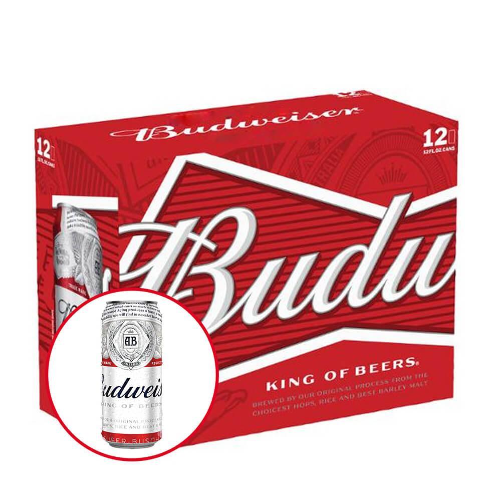 Budweiser Lon 500ml - Thùng 12 Lon Có Giá Ưu Đãi