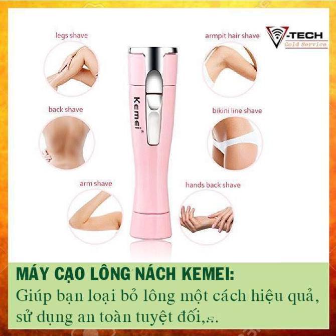 Máy cạo lông 1012 - Có thể cạo lông nách, lông mặt, lông chân và lông vùng kín, an toàn nhập khẩu