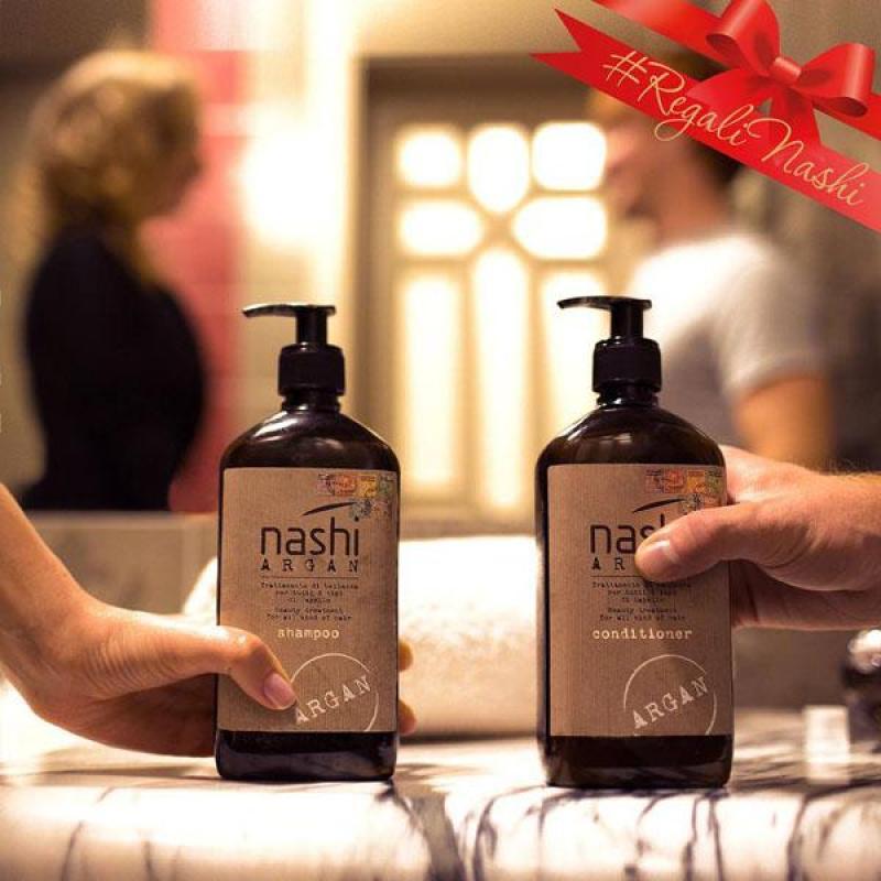 cặp dầu gội xả dưỡng phục hồi tóc Nashi Argan nhập khẩu