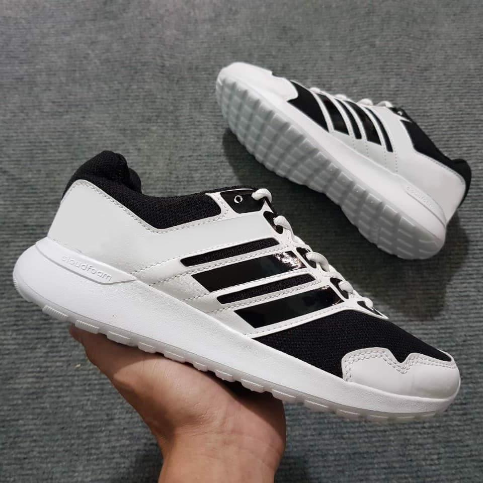 Deal Khuyến Mại Giày Thể Thao Sneaker Nam Nữ Chất Liệu Vải, Lưới Đế Cao 4cm Mạnh Mẽ Cứng Cáp, Nhẹ Và Cực êm Chân (Trắng Phối Đen)
