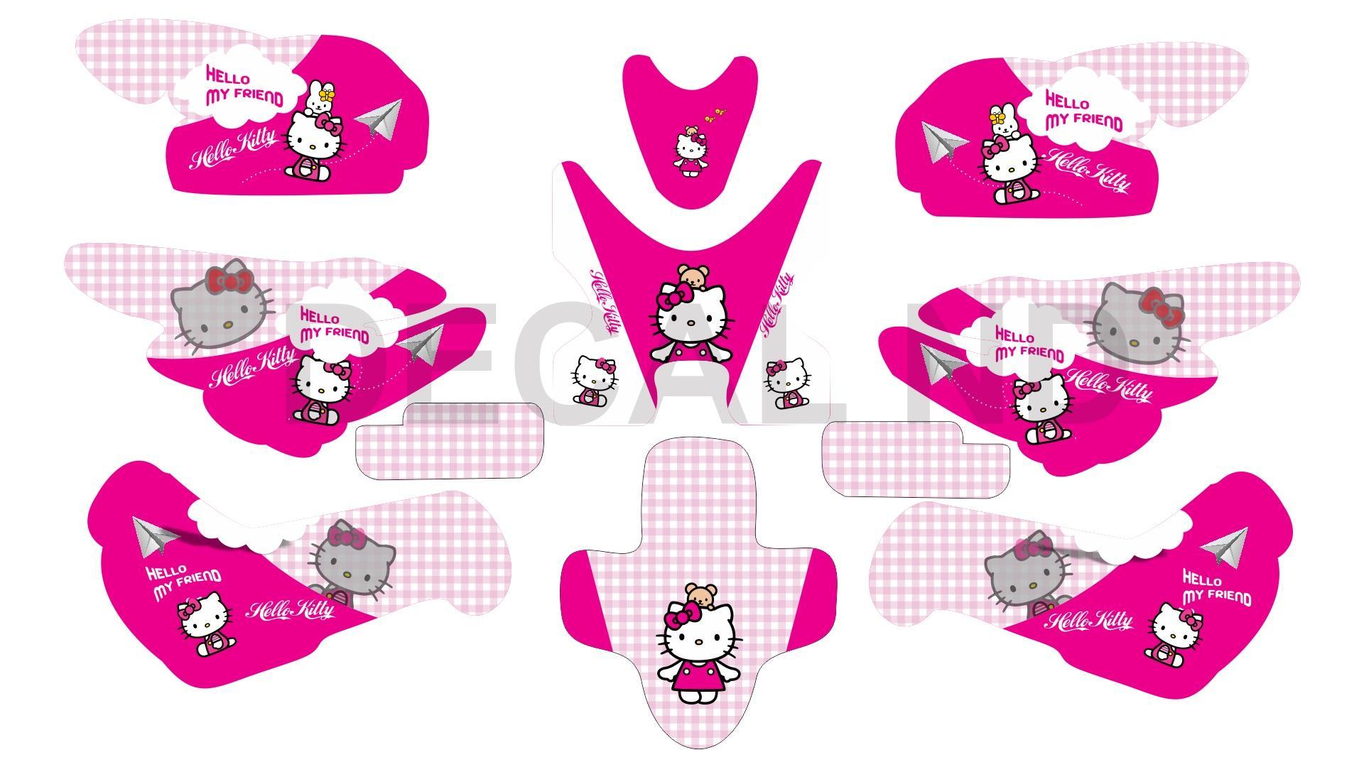 Tem Trùm xe điện xmen mẫu Hello Kitty 1