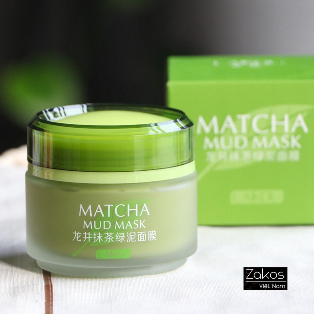 Mặt nạ bùn Laikou matcha mud mask 5 tác dụng 85g