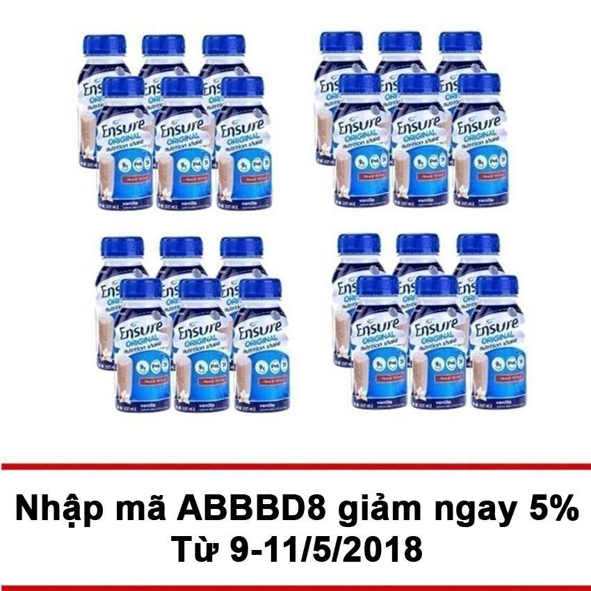 Mua Thung 24 Chai Sữa Nước Ensure Vani 237Ml Mới Nhất