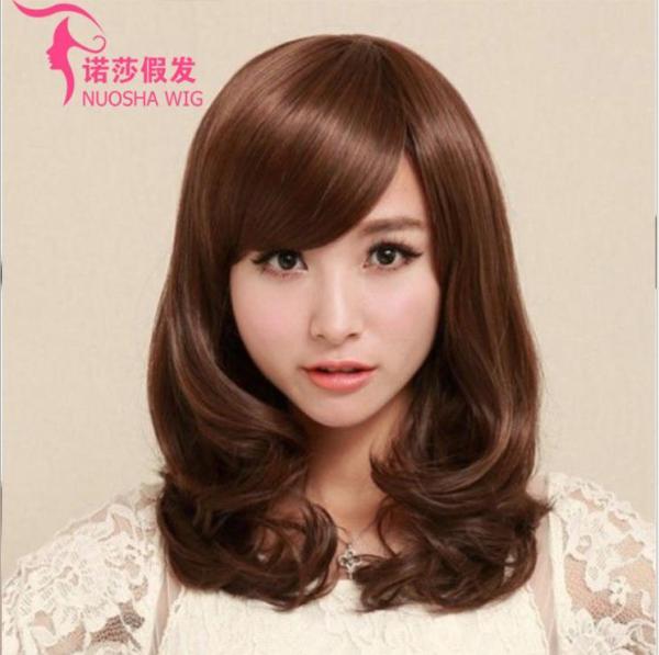 [TẶNG KÈM LƯỚI] Tóc giả nữ nguyên đầu sợi tơ Hàn Quốc CÓ DA ĐẦU - TG27 ( NÂU HẠT DẺ )