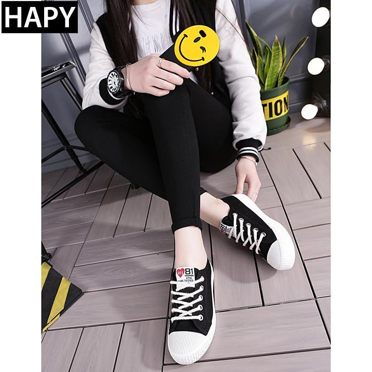 Giày thời trang nữ FS 81 - HAPY (đen, trắng, vàng)