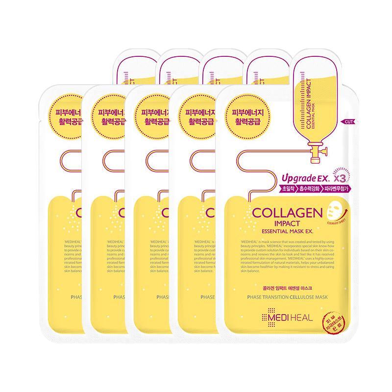 Cửa Hàng Bộ 5 Goi Mặt Nạ Dưỡng Ẩm Ngăn Ngừa Lao Hoa Da Mediheal Collagen Impact Essential Mask 25Ml X5 Mediheal Trực Tuyến