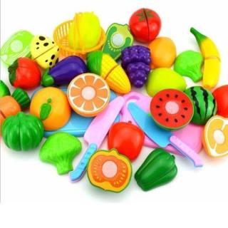 Combo 2 bộ đồ chơi cắt ghép hoa quả cho bé yêu thumbnail