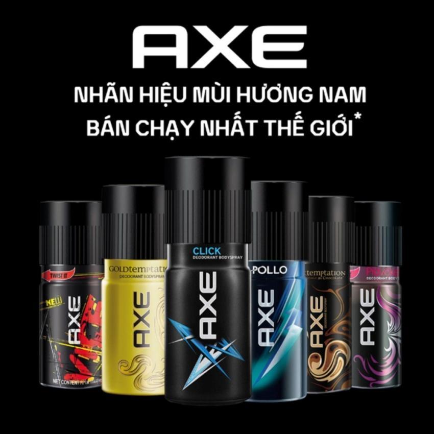 Xịt khử mùi toàn thân cho nam AXE 150ml đủ loại Apollo, Gold Temptation , Drak Socola, Click, Provoke, Black hương nam tính
