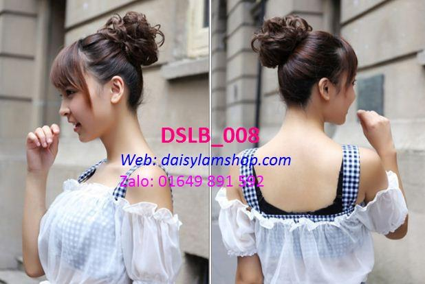 Búi tóc giả dạng dây cột xoăn hoa DLSB_008