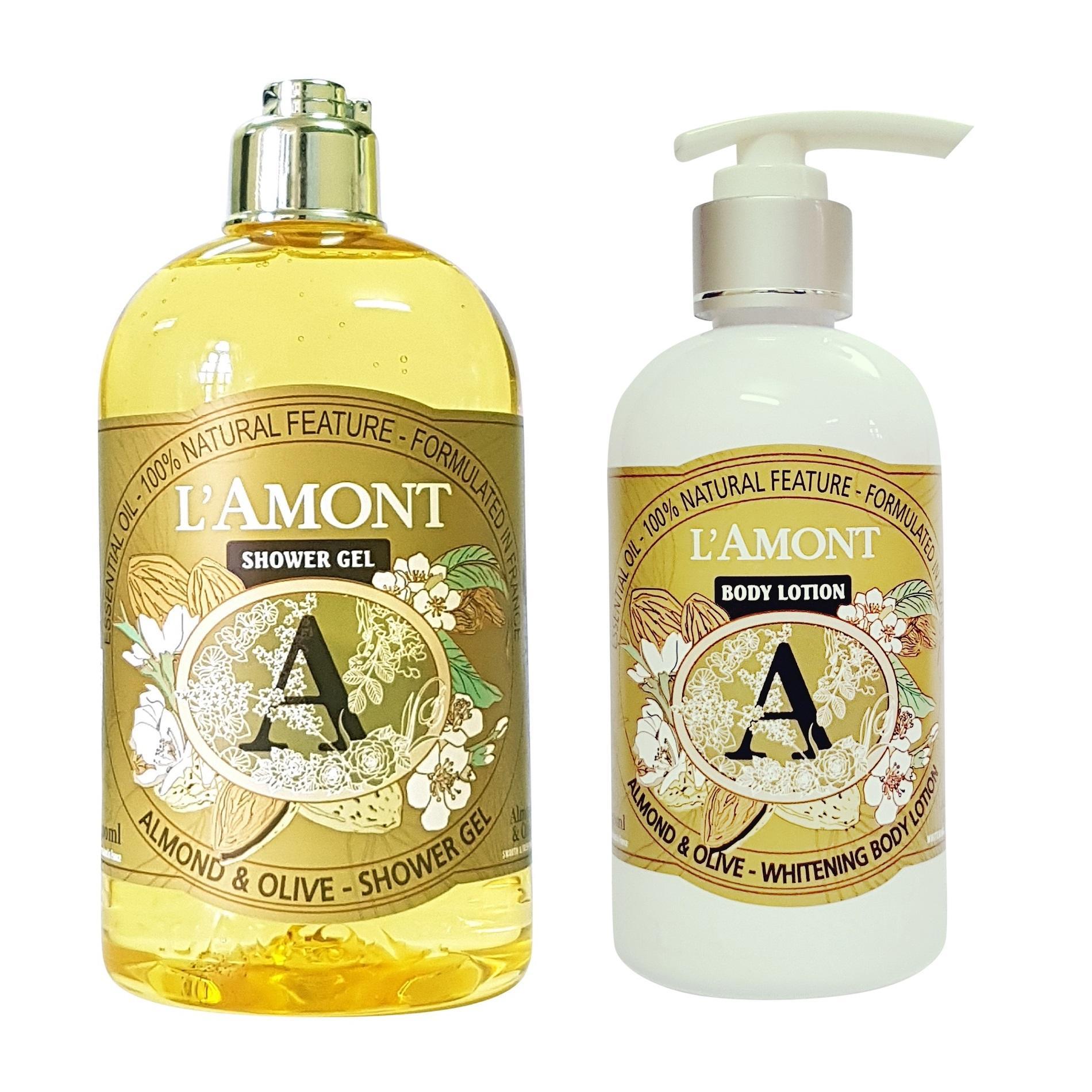 Combo Sữa Tắm Và Sữa Dưỡng Thể Lamont En Provence Almond