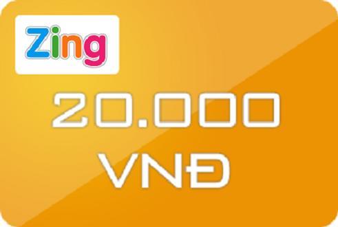Hình ảnh Mã thẻ Zing Xu 20.000đ (VNG,ViNaGame)