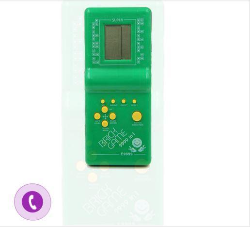 Đồ chơi trẻ em máy chơi game cầm tay tetris E9999 máy chơi game bỏ túi đồ chơi điện tử màu xanh biển -AL Nhật Bản