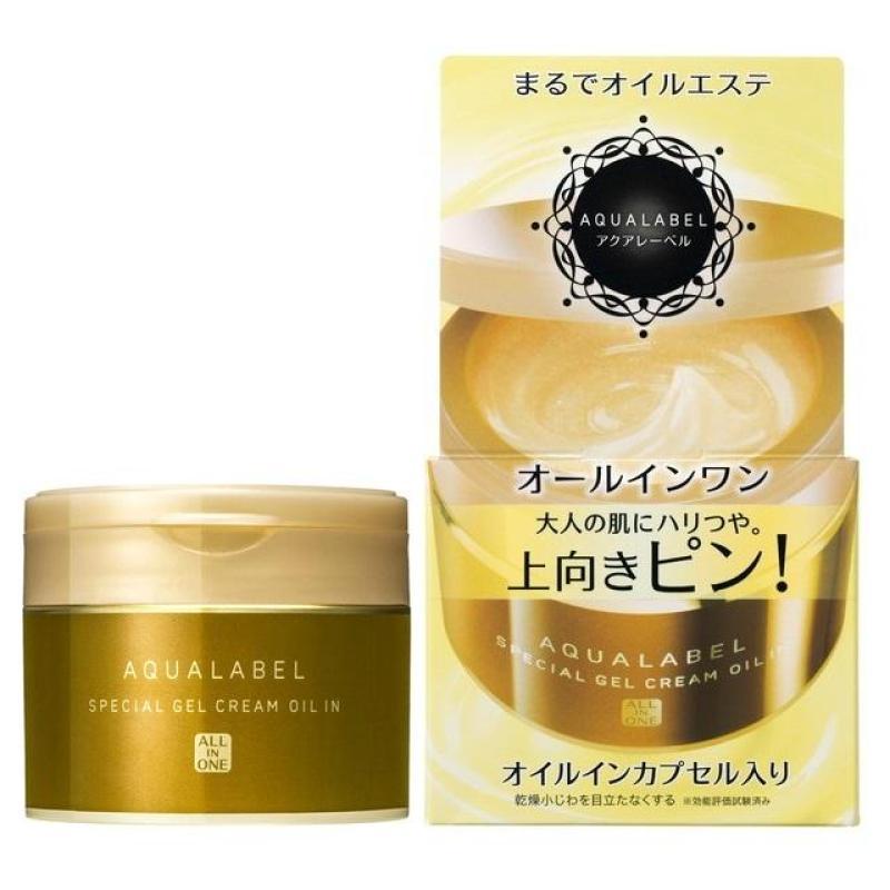 Kem dưỡng da chống lão hóa 5 trong 1 Shiseido aqualabel special gel cream 90g Nhật Bản (màu vàng) cao cấp