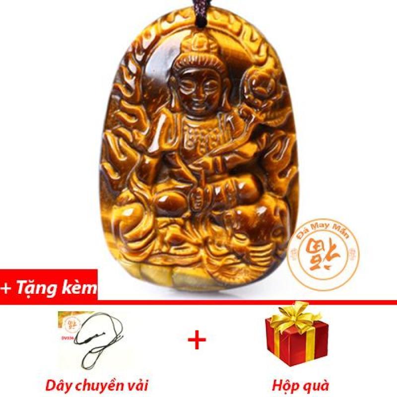 Mặt Dây Chuyền Phật Bản Mệnh Phổ Hiền Bồ Tát Mắt Hổ Vàng Nhí