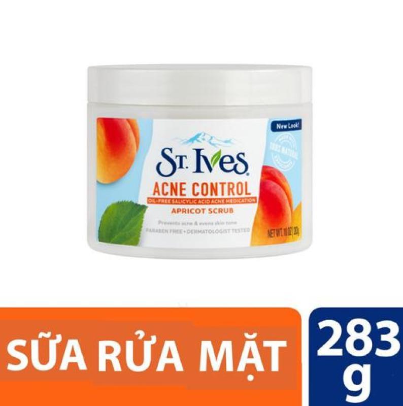 Sữa rửa mặt tẩy tế bào chết ngăn ngừa mụn St.Ives trái mơ 283gr (dùng được cho body) nhập khẩu