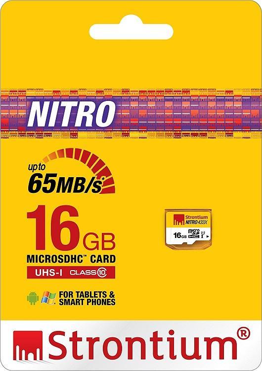 Thẻ nhớ Micro SD 16Gb Strontium Nitro 433X -90Mb siêu bền bảo hành trọn đời