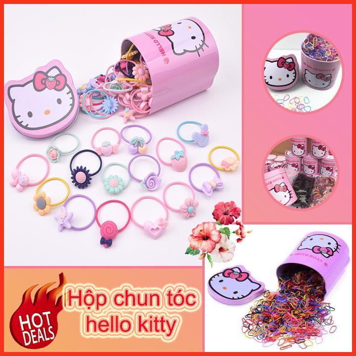 Hộp chun Hello Kitty ( shop còn cung cấp vỏ bọc máy giặt, bút màu cho bé, miếng lót chống thấm, giỏ đựng đồ đa năng )