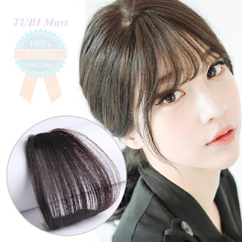 Tóc mái thưa giả kiểu Hàn Quốc màu đen nhập khẩu