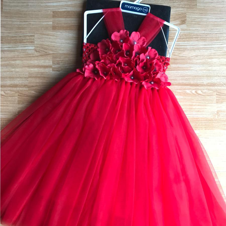 Giá bán váy tutu đỏ yếm cho bé yêu diện thôi nôi