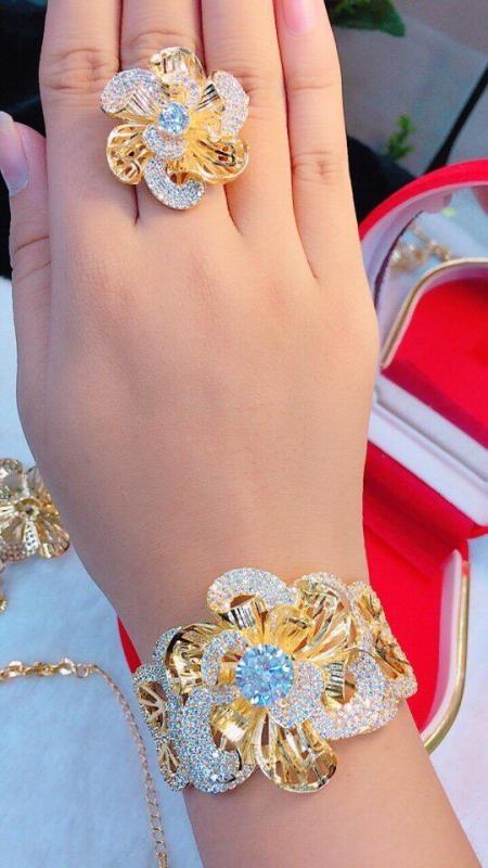 Bộ Trang Sức Nữ Xi Vàng 18k   Gadoshop