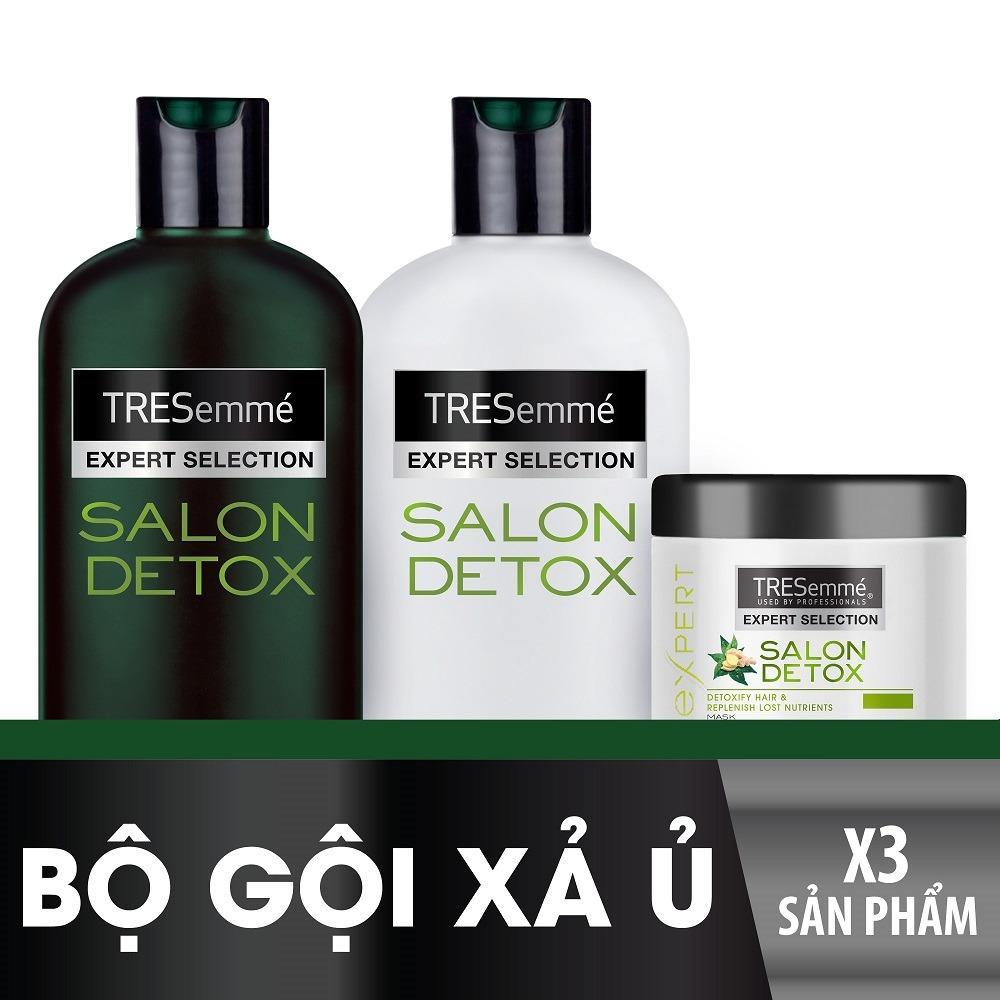 Bộ TRESEMME Salon Detox bao gồm Dầu gội 340g + Dầu xả 340g + Kem ủ 180ml nhập khẩu