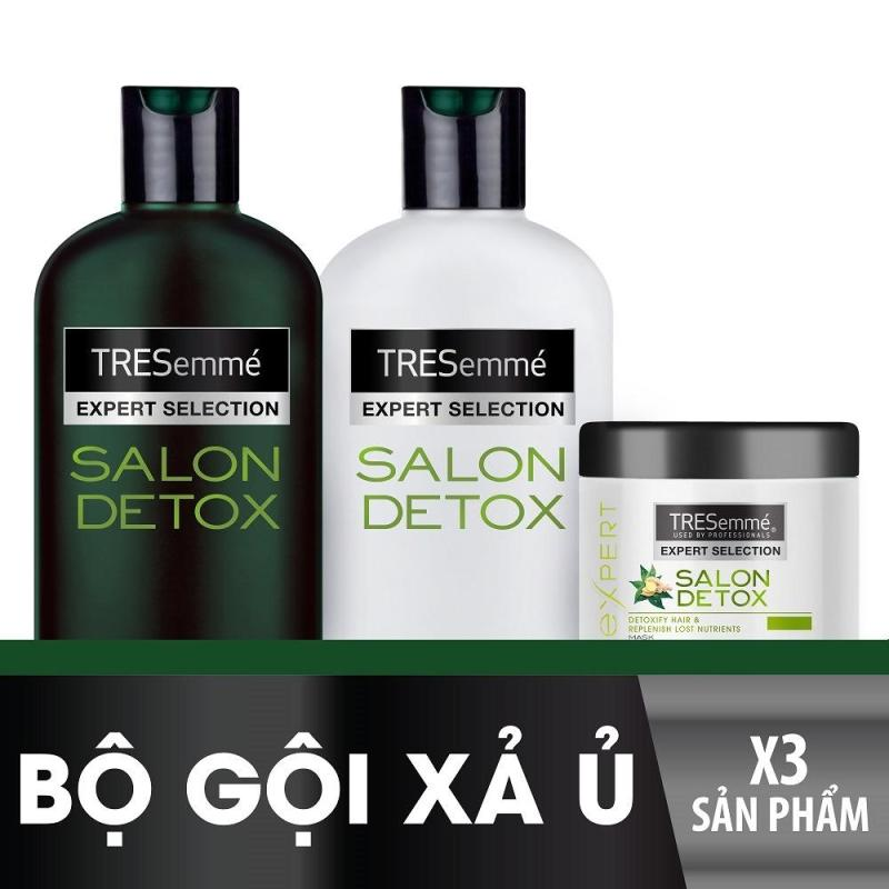 Bộ TRESEMME Salon Detox bao gồm Dầu gội 340g + Dầu xả 340g + Kem ủ 180ml cao cấp