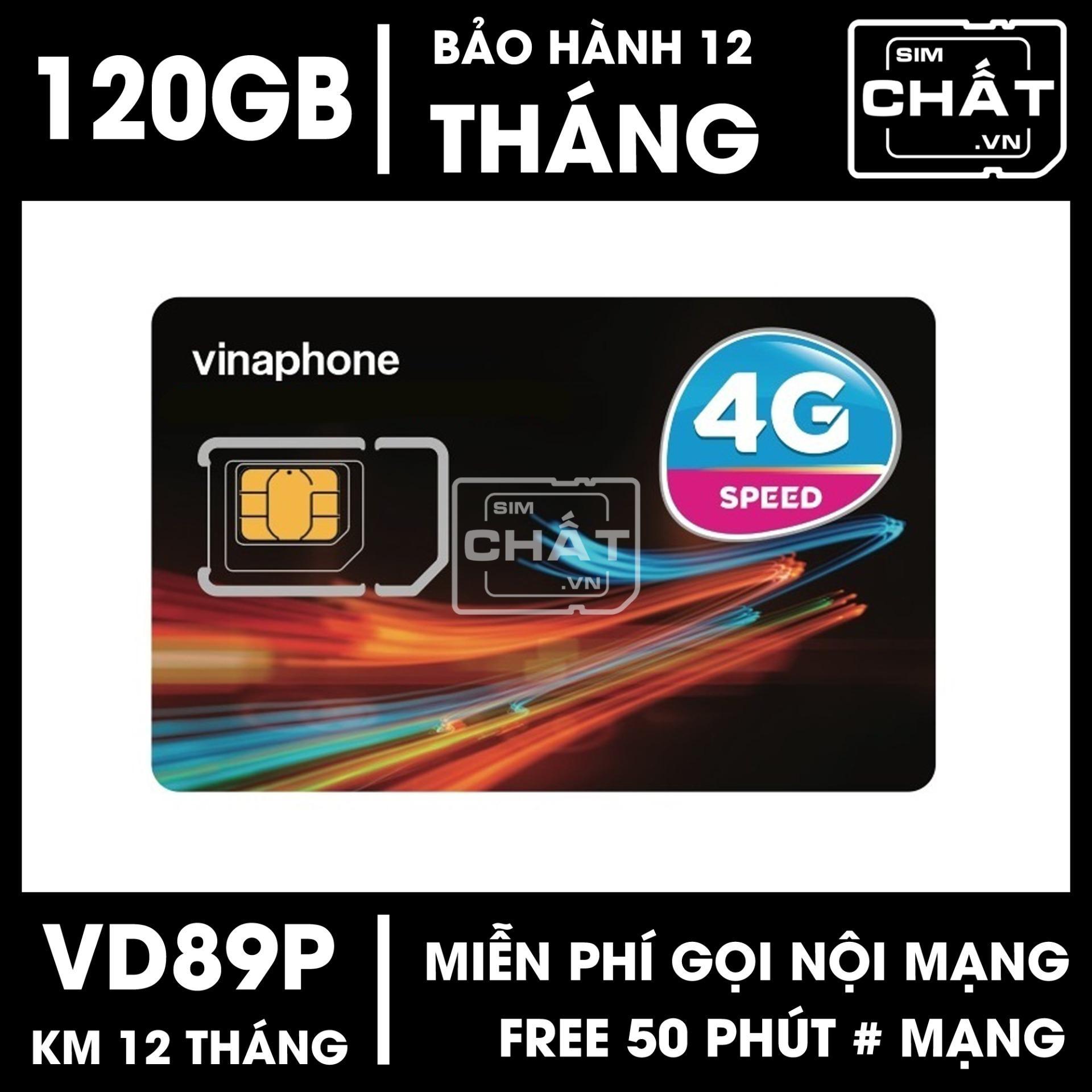SIM 4G Vinaphone VD89P Tặng 120GB/Tháng + 43.000 Phút Gọi/Tháng - SIM CHẤT