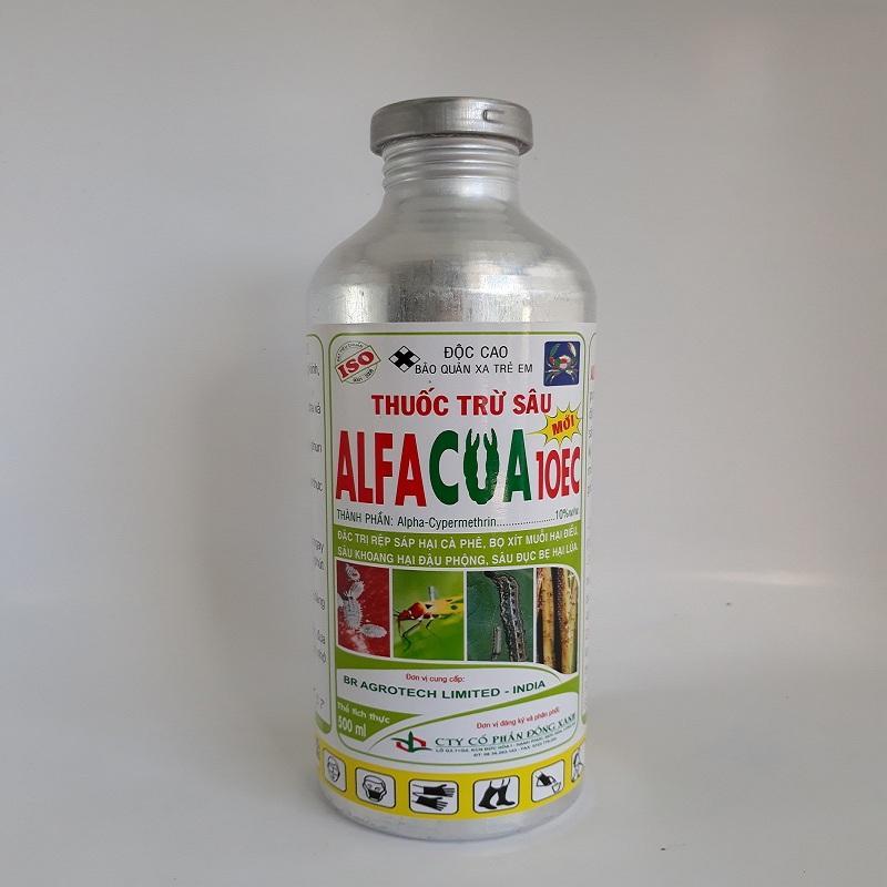 Hình ảnh Thuốc trừ sâu Alphacua 10EC 500ml đặc trị rệp sáp, bọ xít, muỗi, sâu khoang