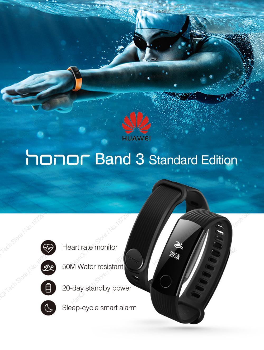 Hình ảnh Vòng theo dõi sức khỏe chống nước 5ATM Huawei Honor Band 3