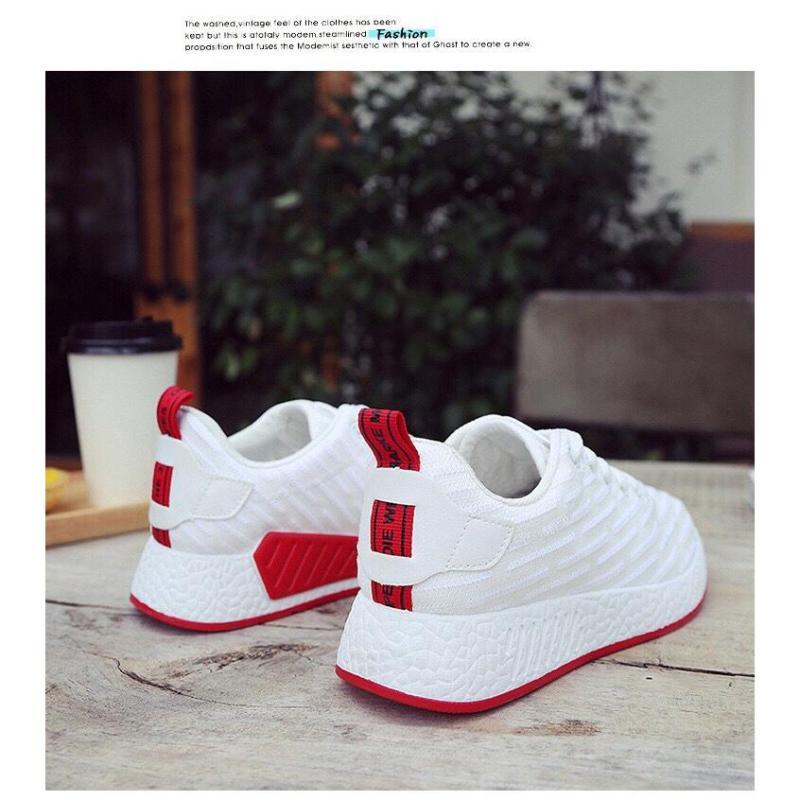 giày thể thao đen đỏ