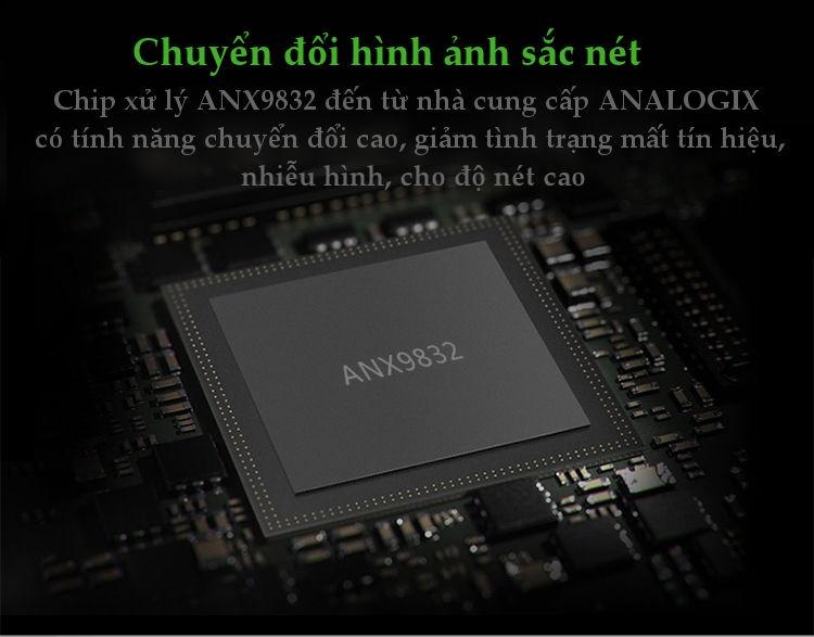 Dây chuyển đổi DisplayPort sang VGA+Audio converter (Vỏ nhôm) dài 25cm UGREEN DP106