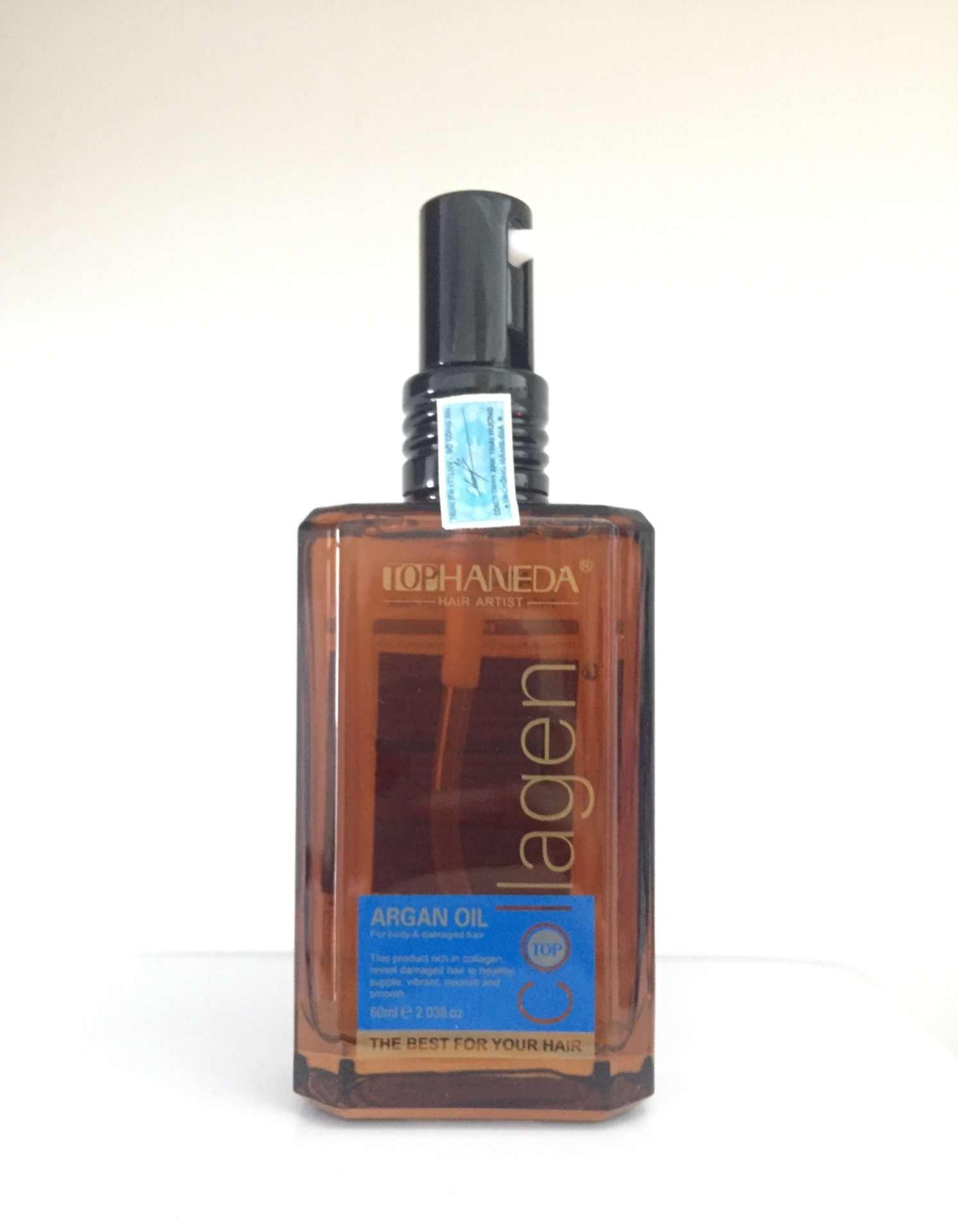 Top Haneda Collagen Argan Oil For Body & Damaged Hair, 60ml