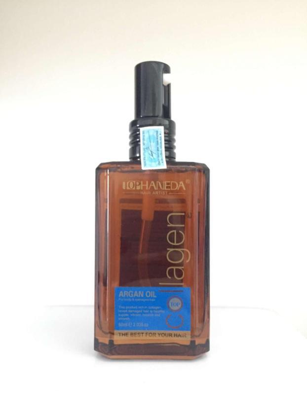 Top Haneda Collagen Argan Oil For Body & Damaged Hair, 60ml cao cấp